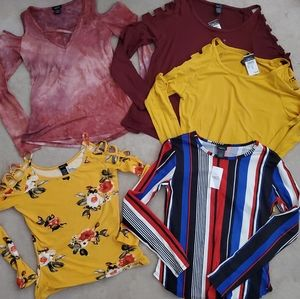 NWT Lot of 5 Rue 21 Women's Small Long Sleeve.